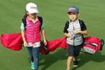 劉濤兒女打高爾夫