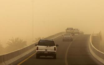 沙塵暴襲擊科威特