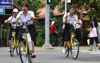 中國共享單車進入泰國大學校園