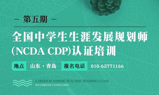 第五期全国中学生生涯发展规划师(NCDA CDP)认证培训