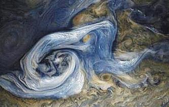木星蓝色风暴 宛如油画般壮美