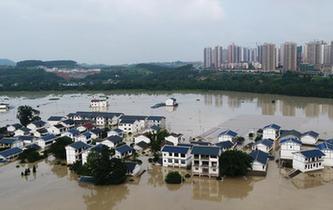 重慶長江、嘉陵江、涪江洪水過境
