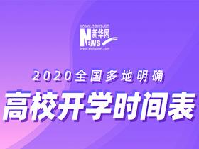 [2020開學季]全國多地明確高校開學時間表