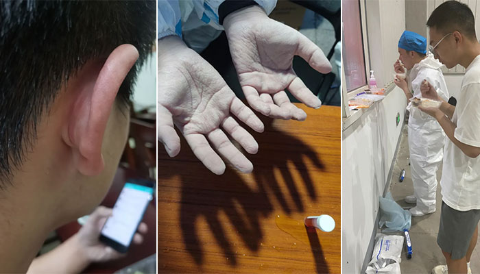 连夜奔赴!多地大学生紧急支援南京!一双双手让人心疼
