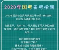 2020年国考报名结束 考生还须了解这些备考注意事项