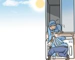 """外卖小哥订单多、空调维修员忙不过来 """"高温经济""""让人收支两旺"""
