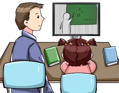 """和孩子一起""""注册"""":按学期生活的父母"""